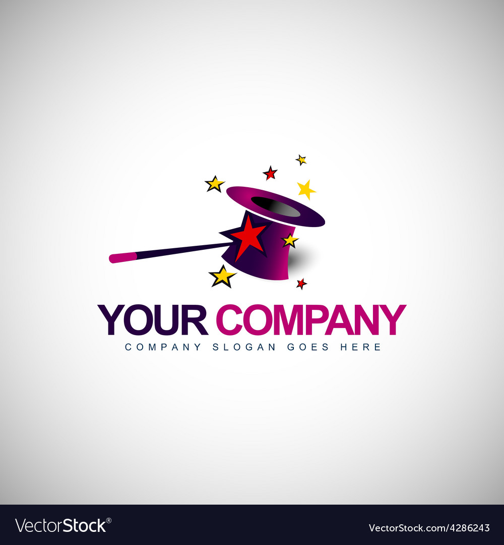Magician hat design vector