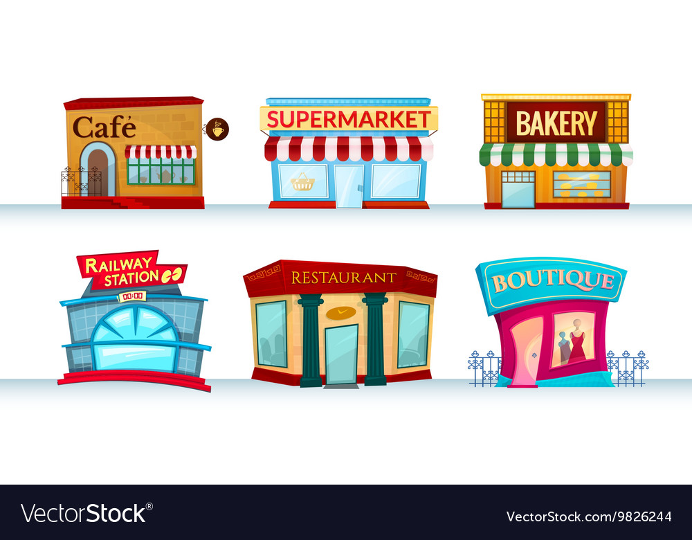 Different city facilities vector