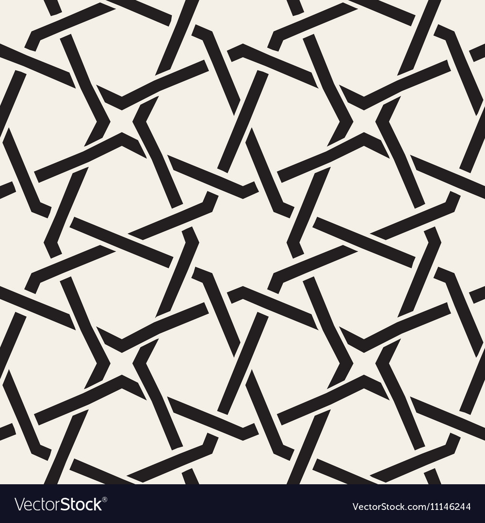 Seamless black white geometric inrerlacing vector