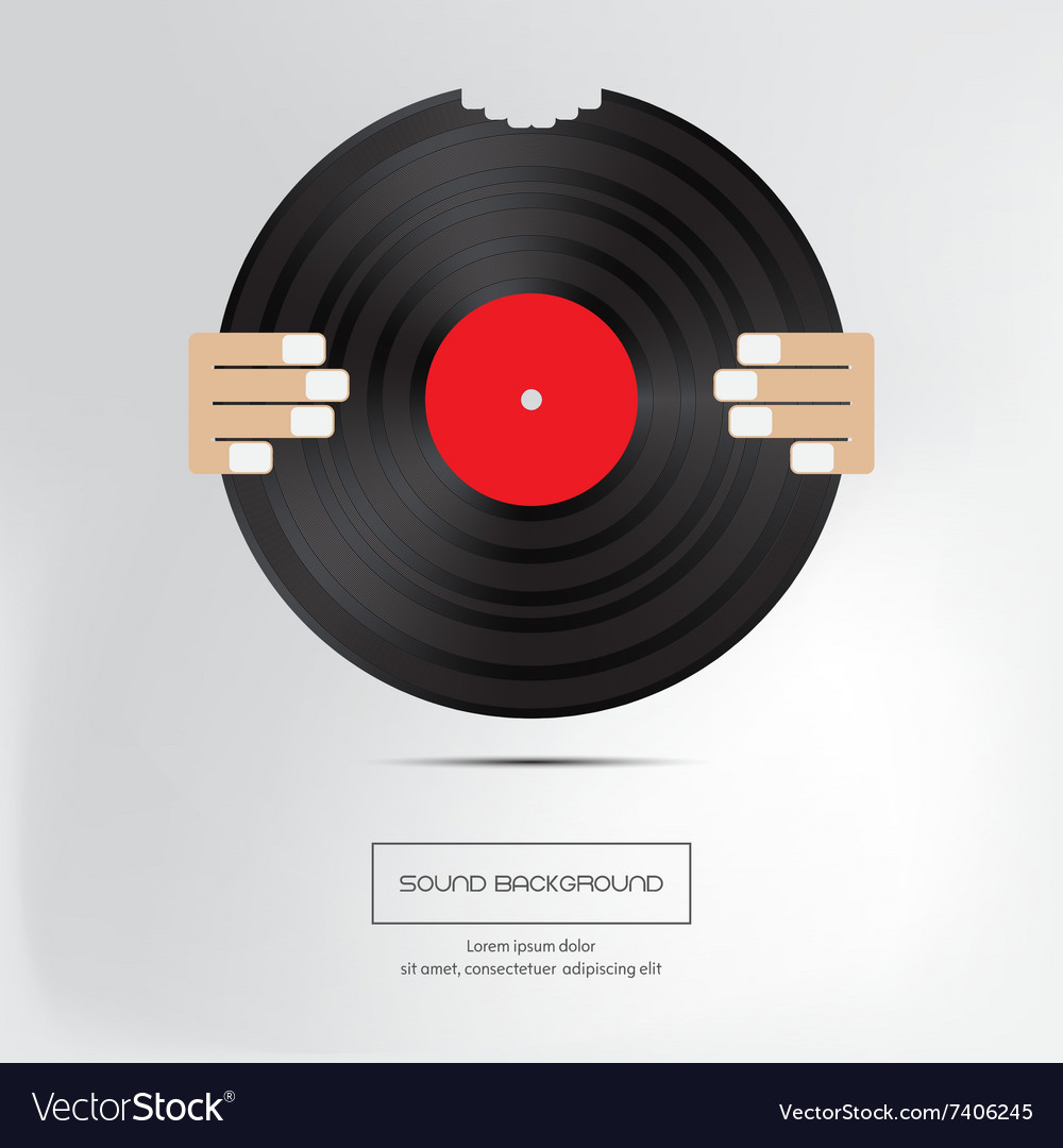 Music background bite of musical plate isolated vector