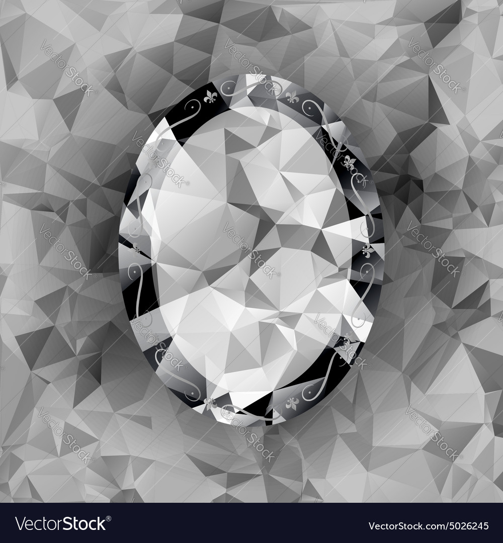 Triangle mirror polygonal diamond vector