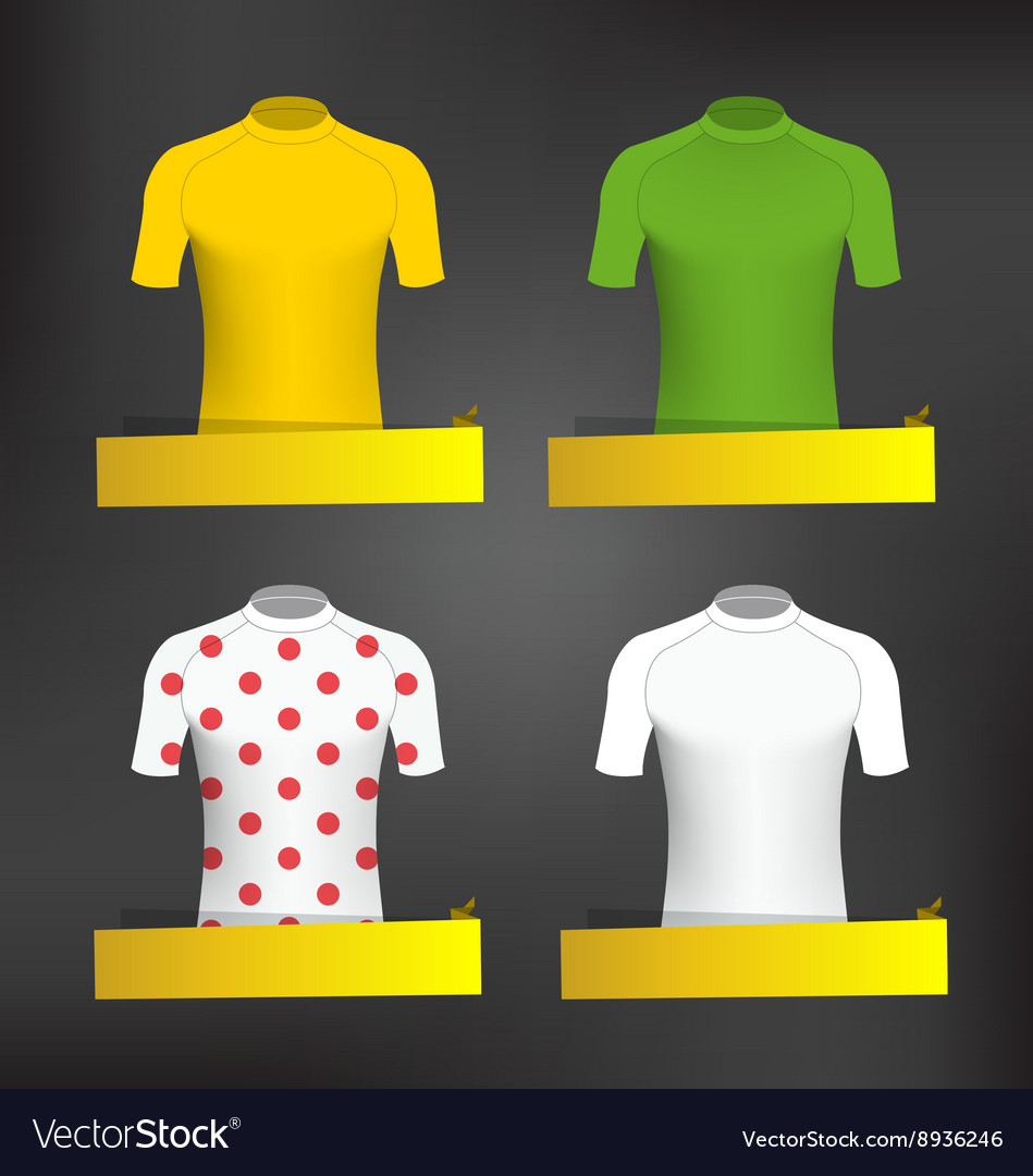 Cycling jerseys vector