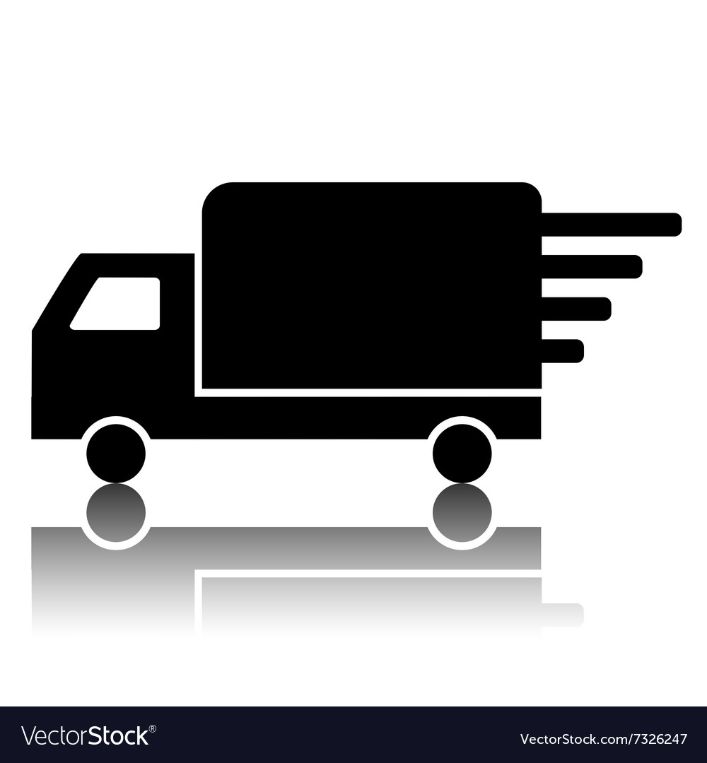 Black delivery sign vector