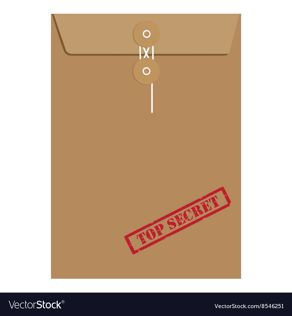 Envelope top secret vector