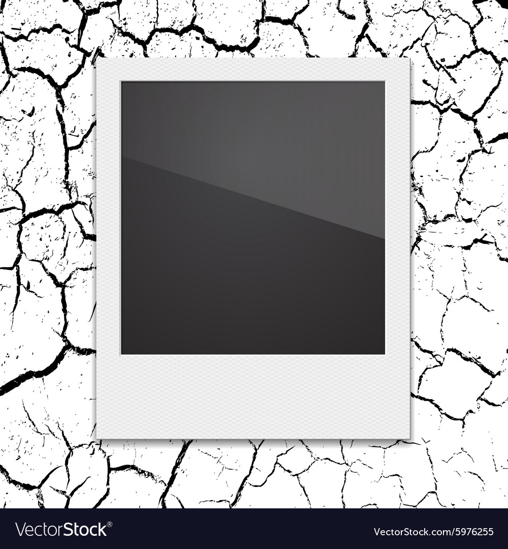Retro polaroid photo frame on the background vector