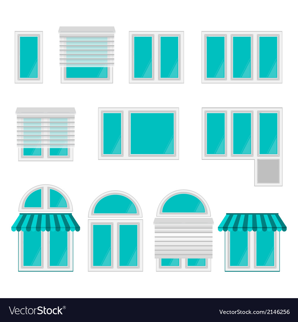 Icons for windows vector