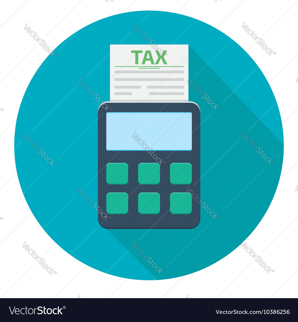 Tax calculator icon vector