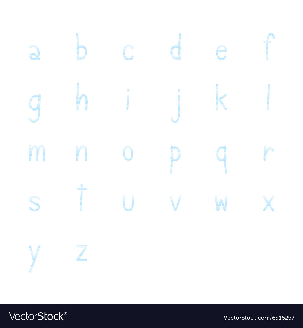Blue hand write alphabet set1 vector
