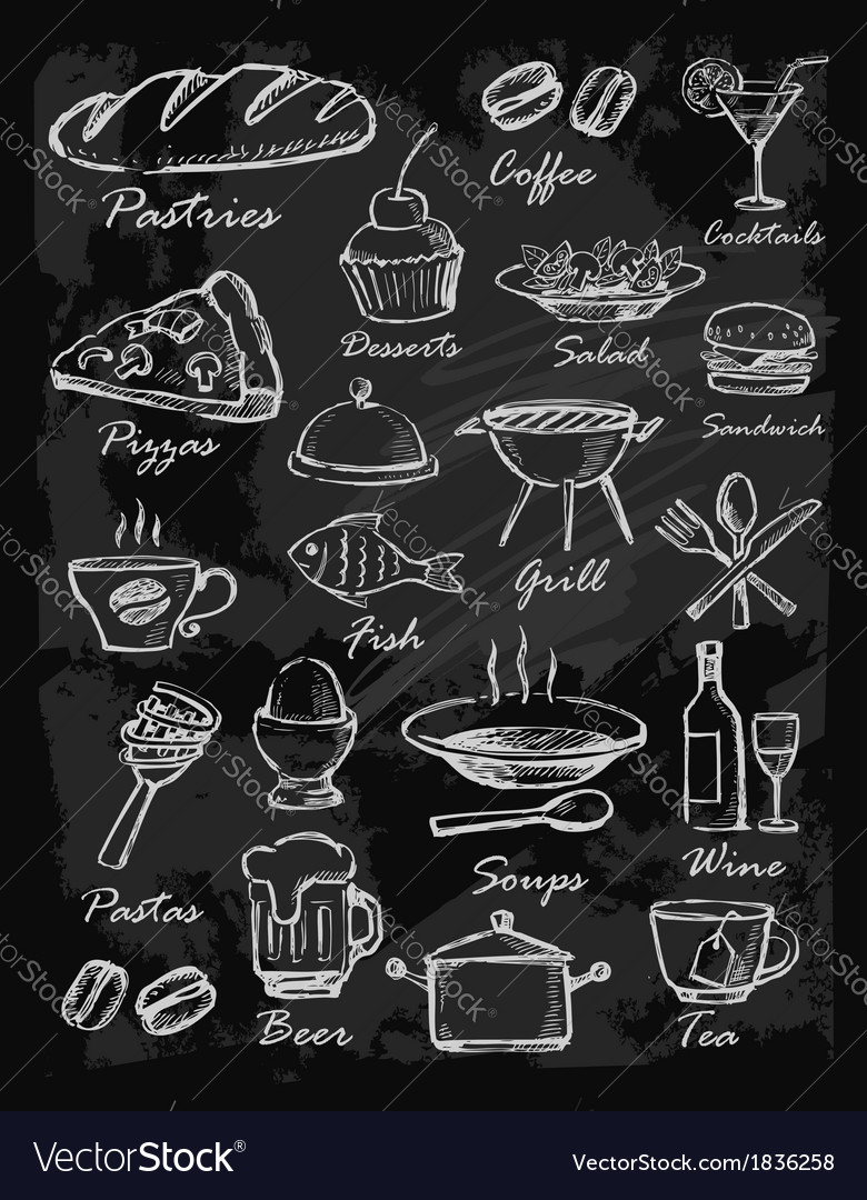 Menu icons vector