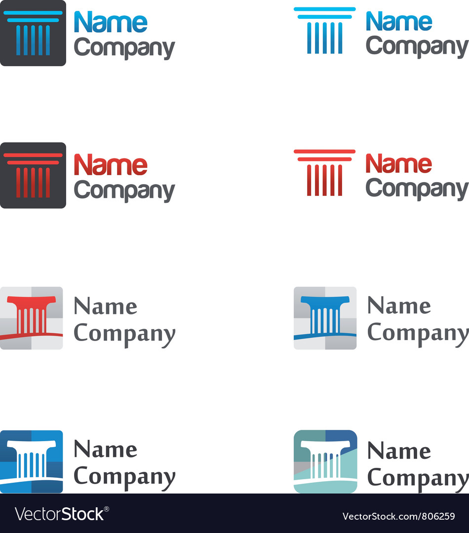 Logo icon set vector