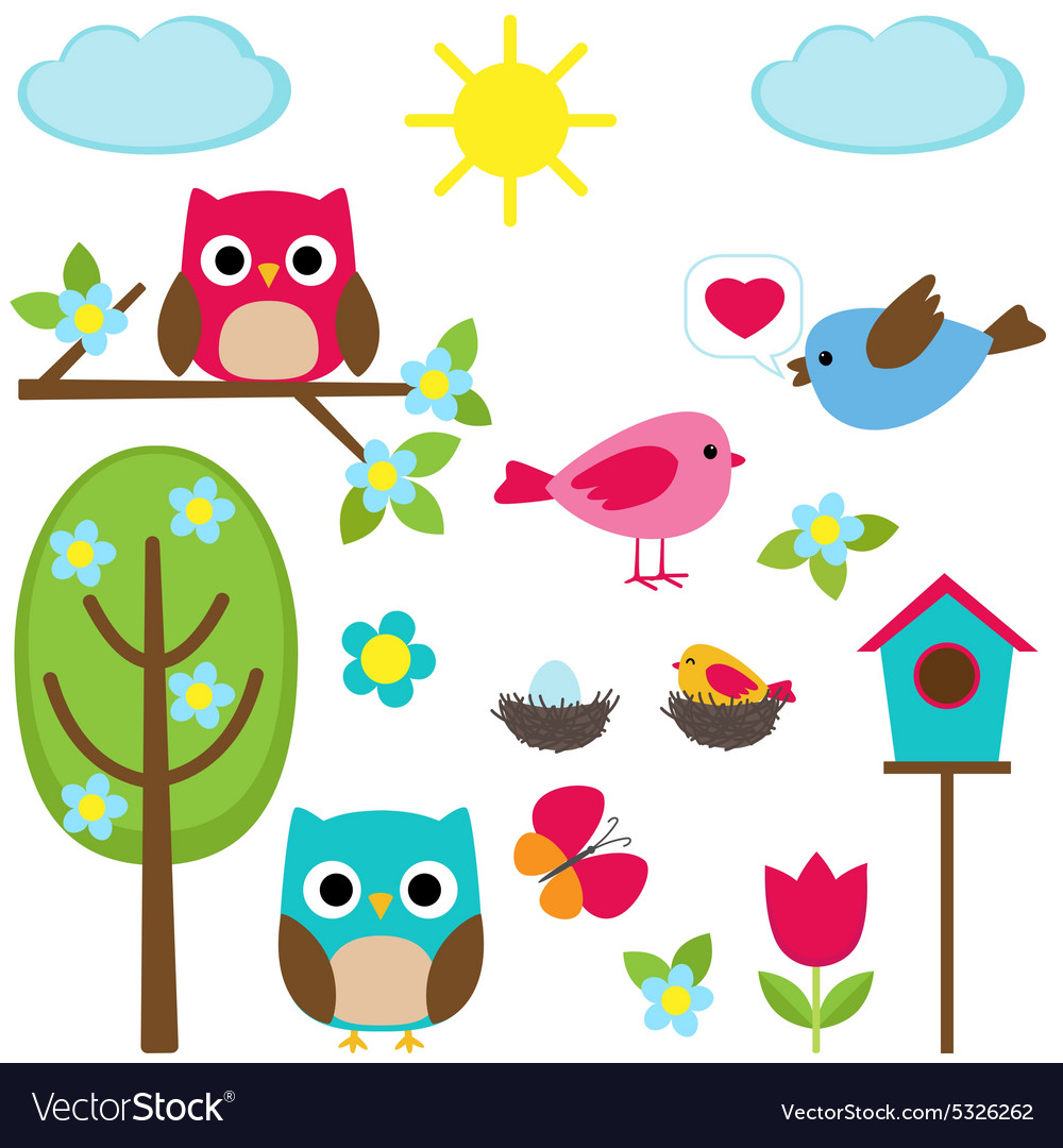 Different spring elements vector