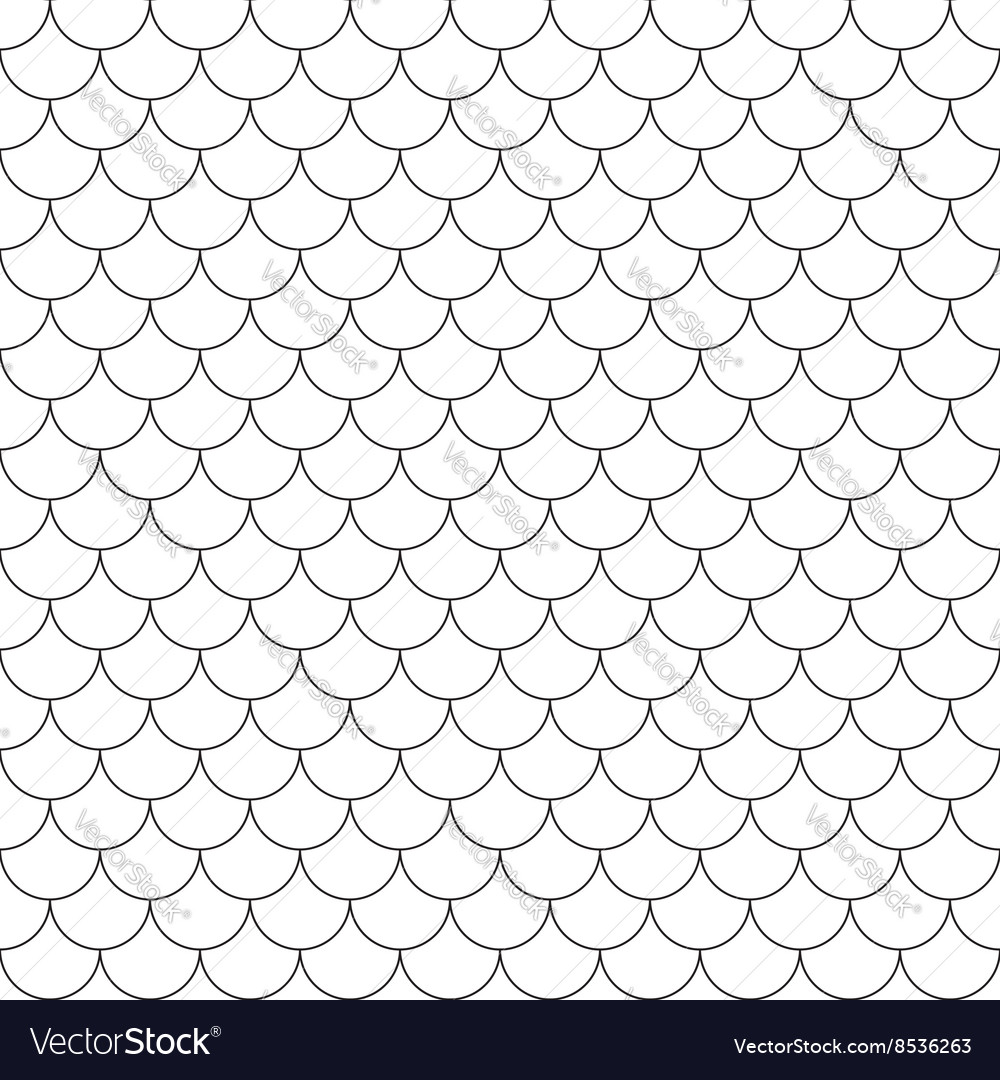 Fish scales simple seamless pattern vector