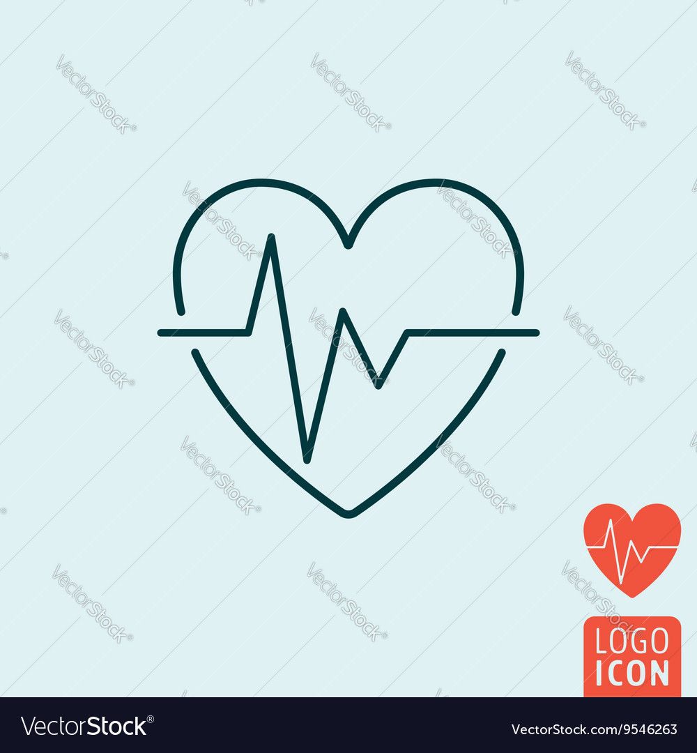 Heartbeat icon isolated vector