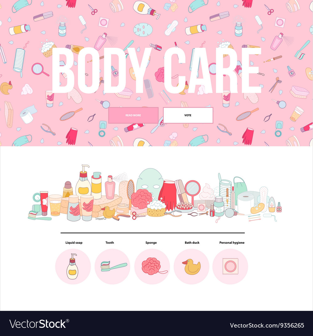 Hygiene web template vector