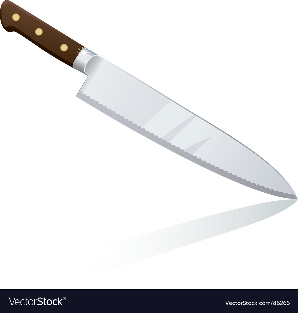 Chef knife vector