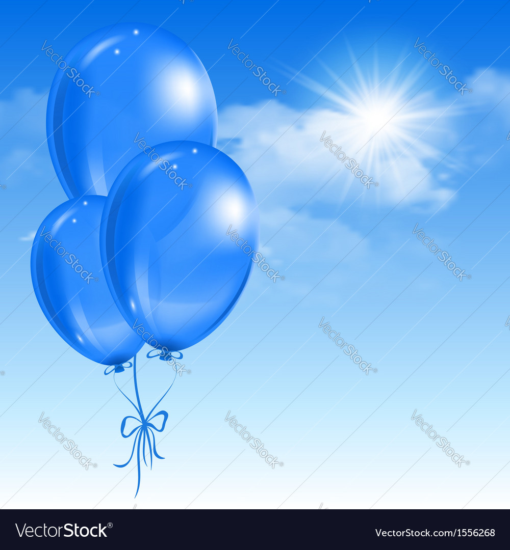 Balloons in the sky vector