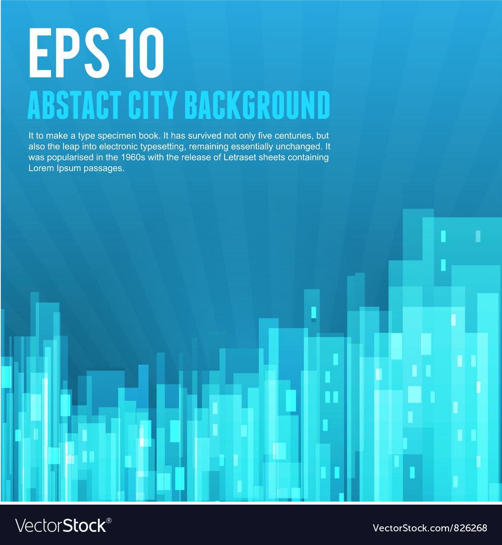 Blue city background vector