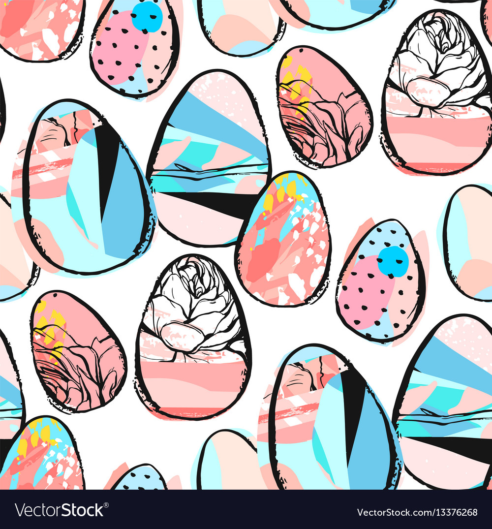Easter egg pattern background vector