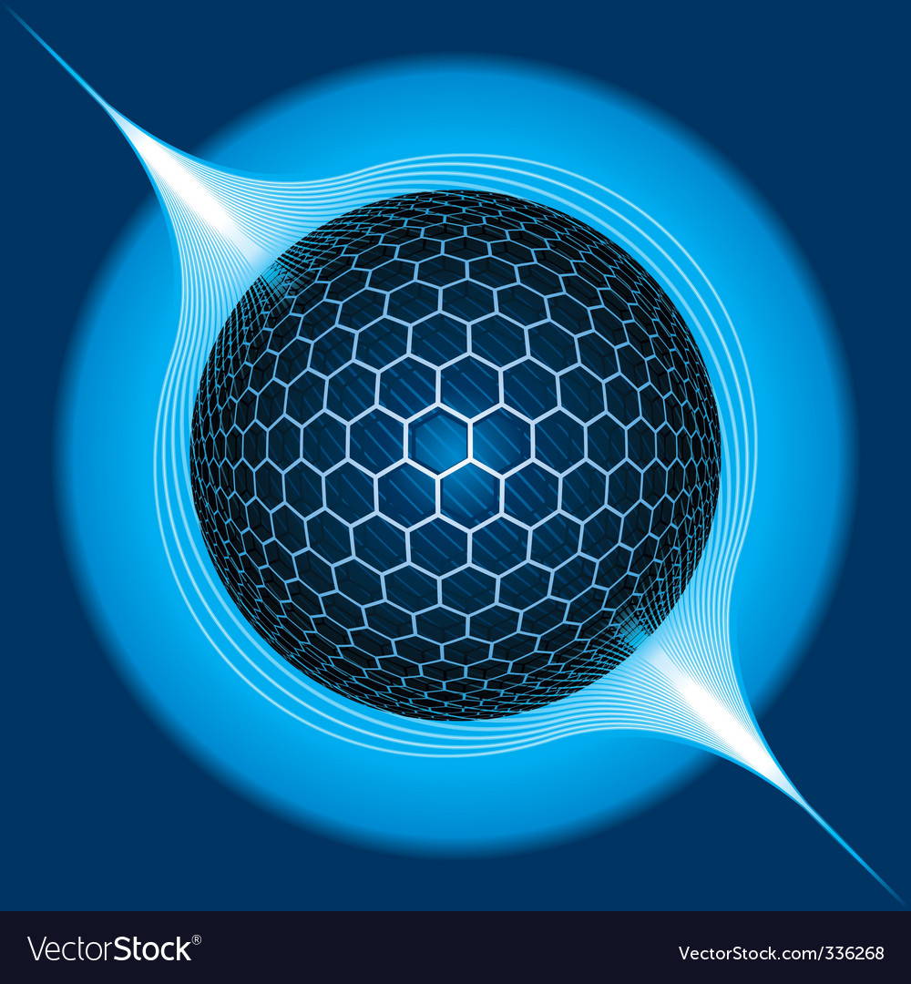 Fantasy electric sphere vector