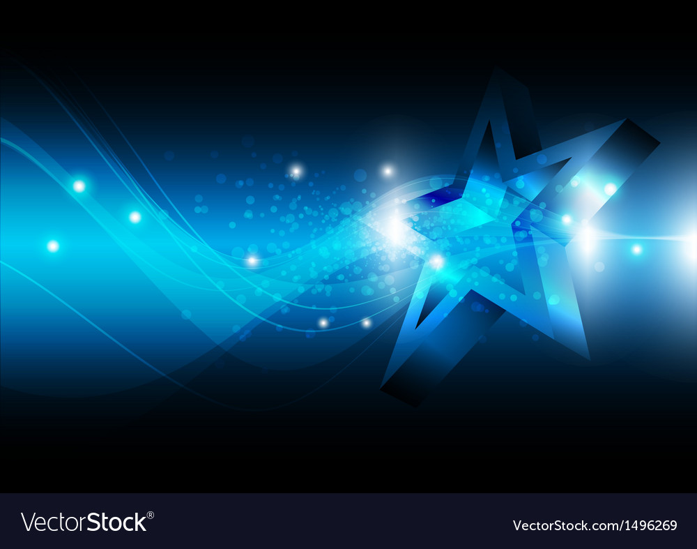 Star with technology background vector