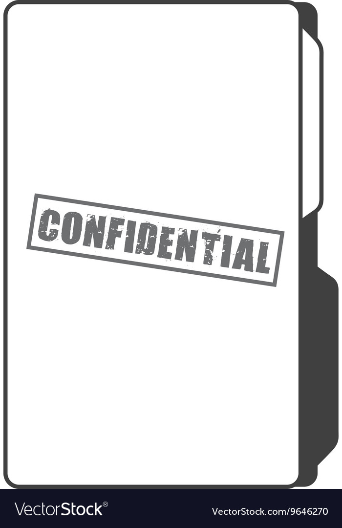 Confidential folder isolated icon design vector