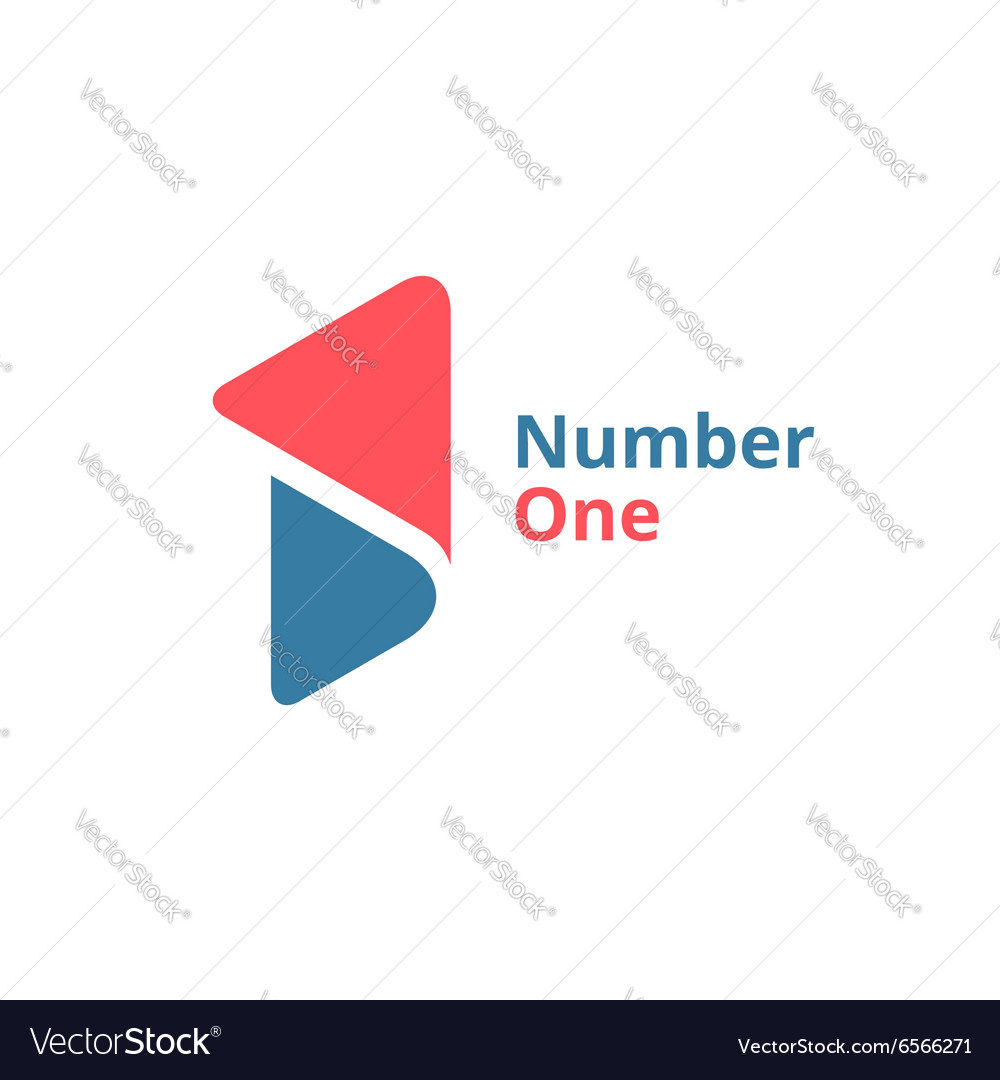 Number one 1 logo icon design template elements vector