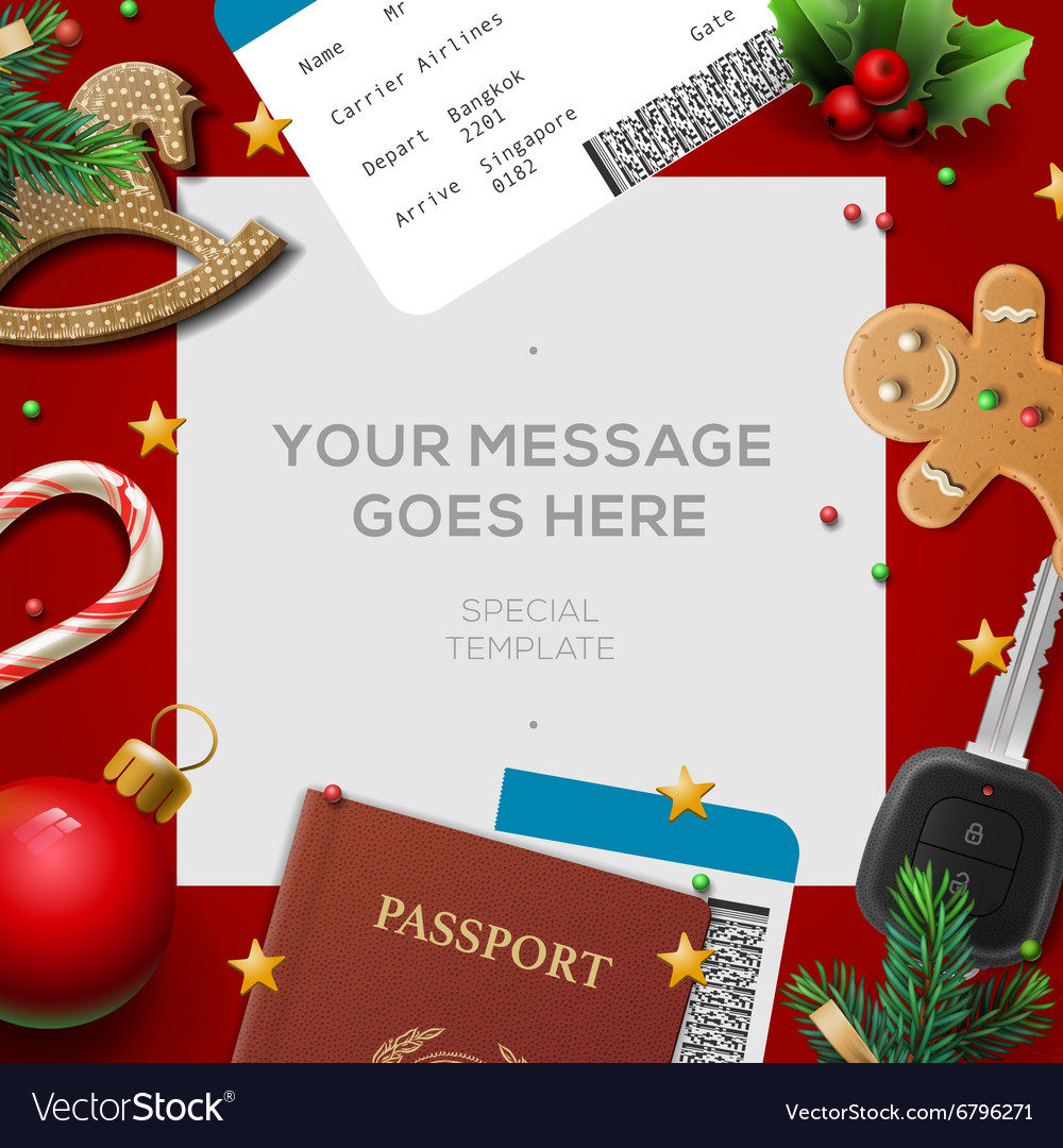 Travel blog template holiday vacation tourism vector