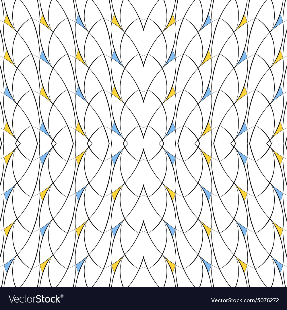 Seamless pattern of lines arcs and triangles vector