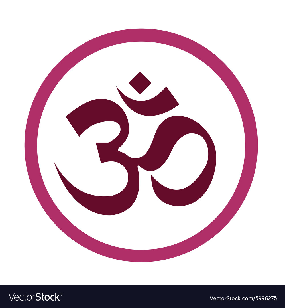 Hinduism symbols om design vector