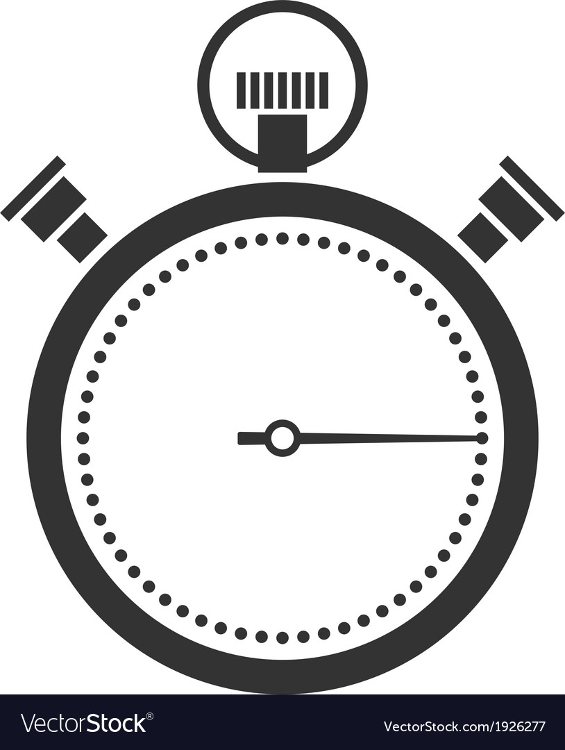 Stopwatch or chronometer icon vector