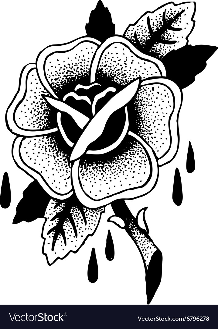 Roses tattoo sketch vector