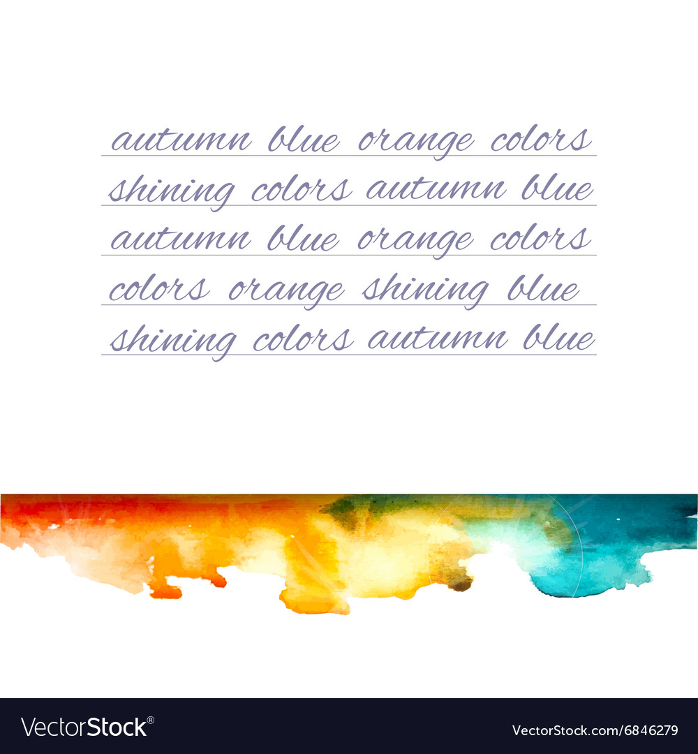 Aquarelle mountains yellow blue note vector