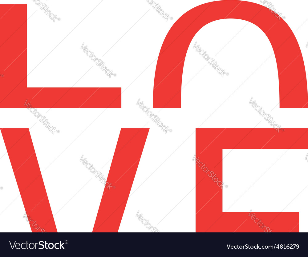 Logo love vector