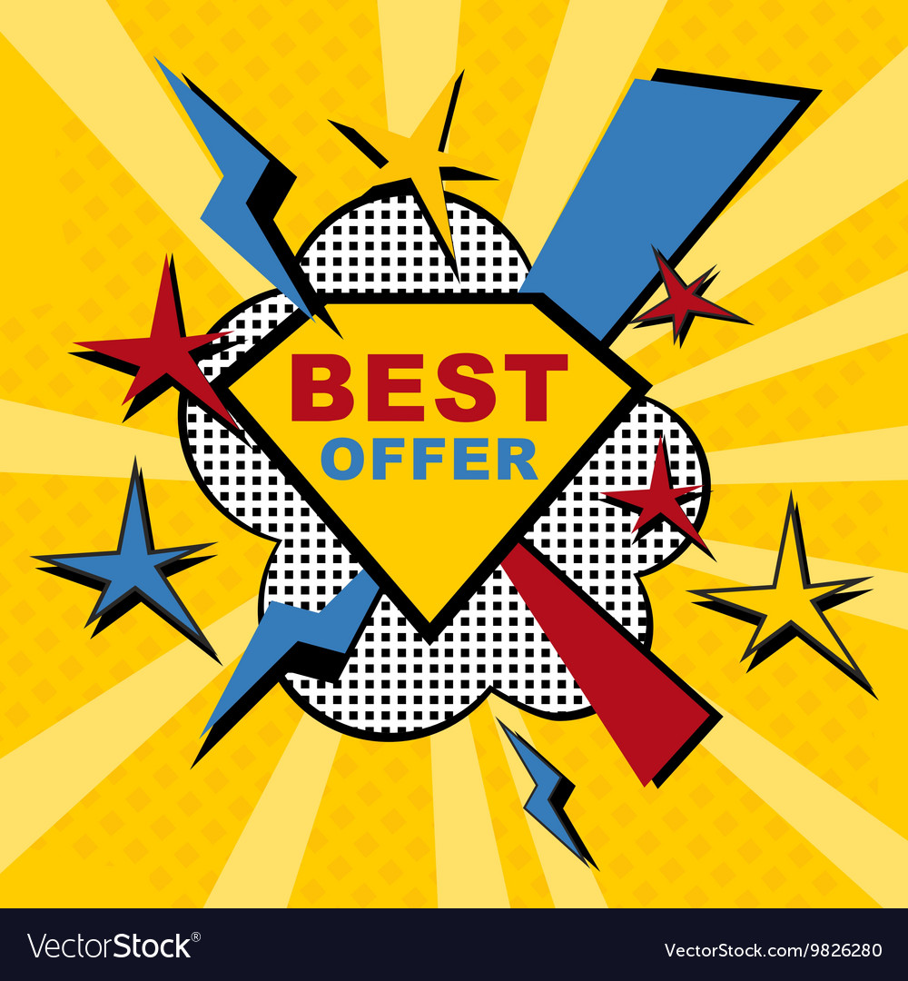 Best offer sticker vector