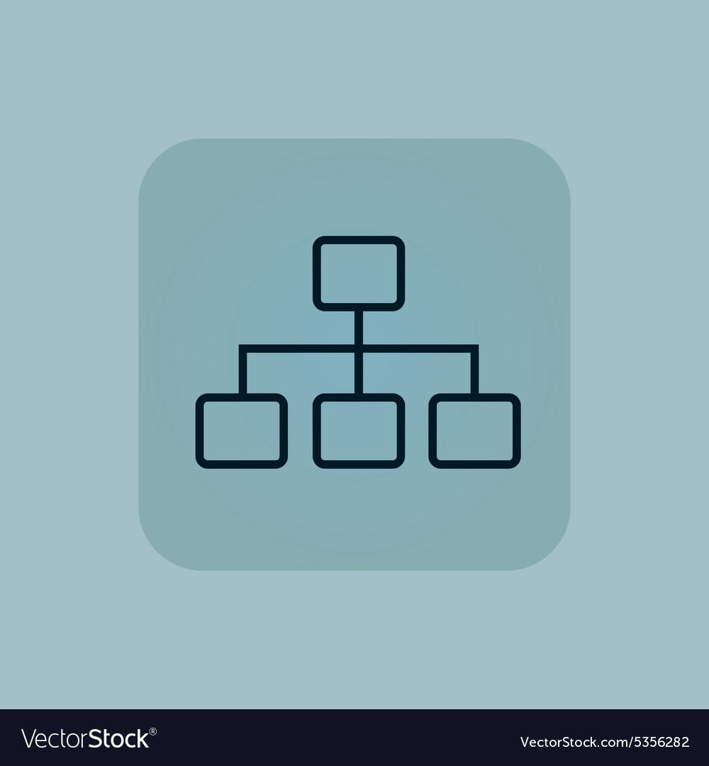 Pale blue scheme icon vector