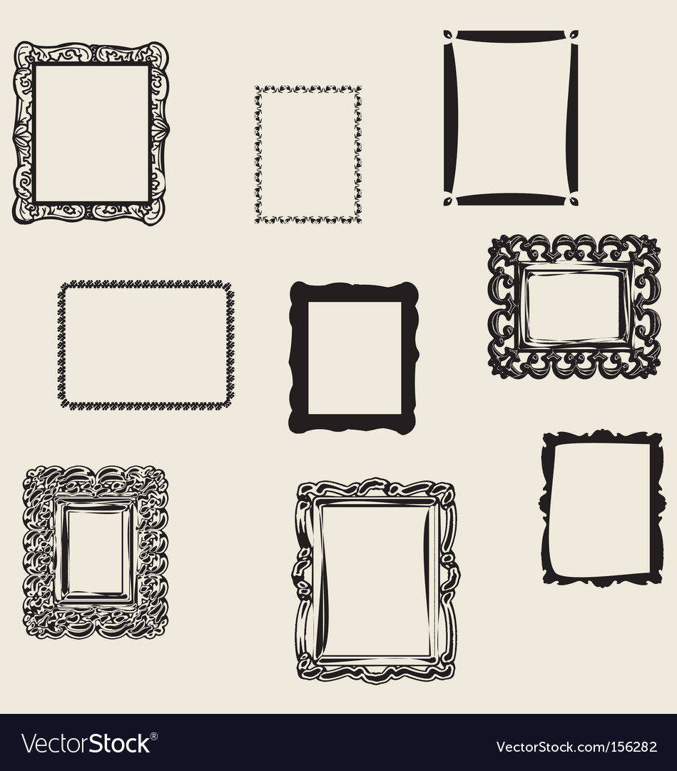 Retro frames vector