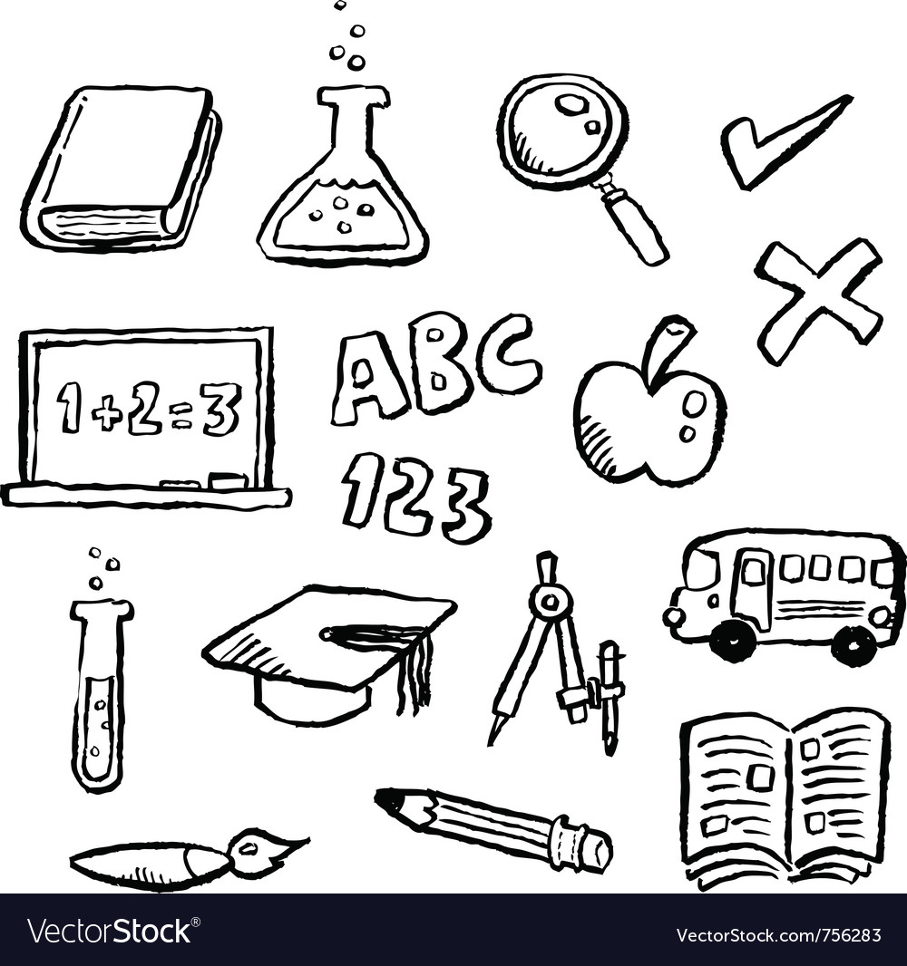 Doodle series  education vector