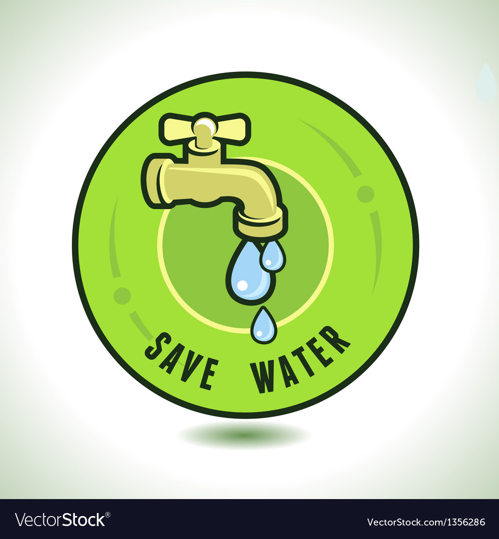 Ecology concept  save water vector