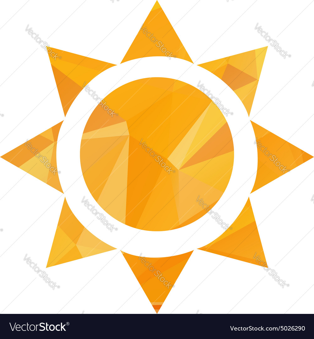 Triangle sun in eps vector