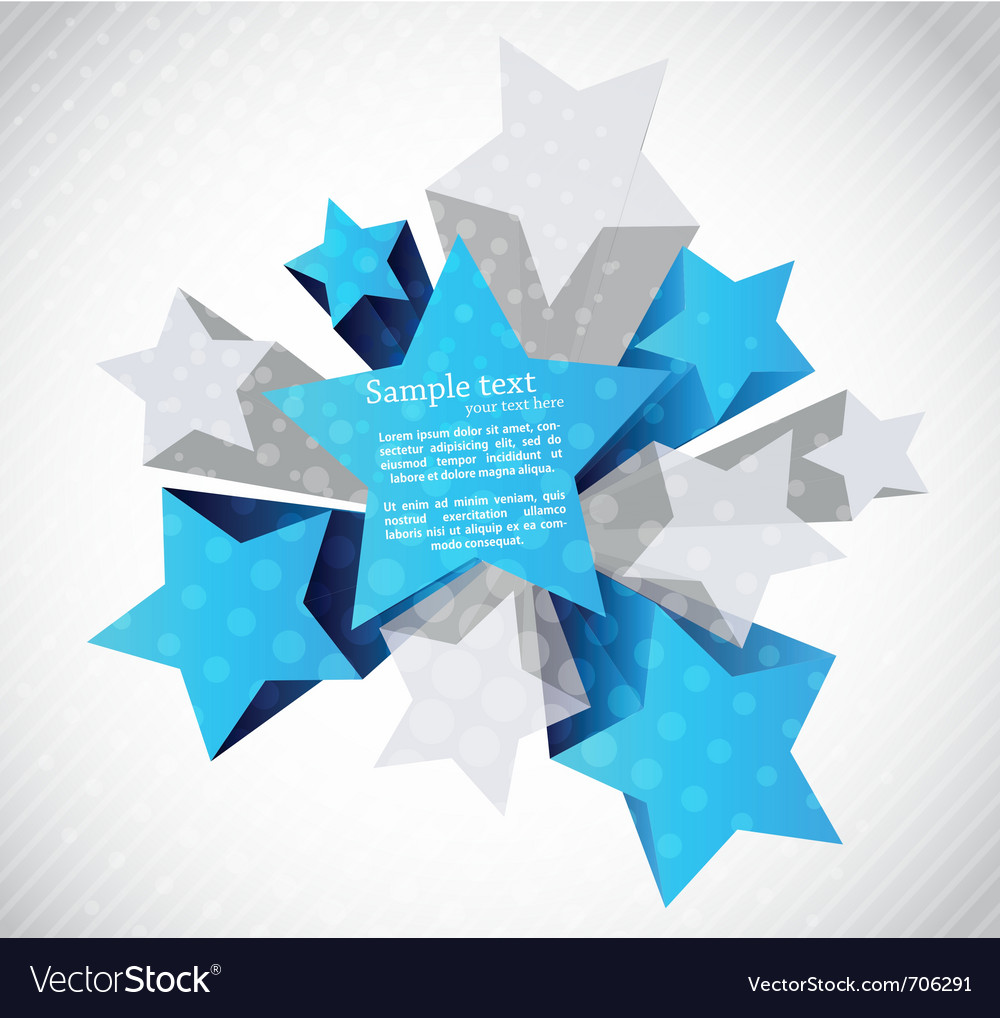 Abstract background with star vector