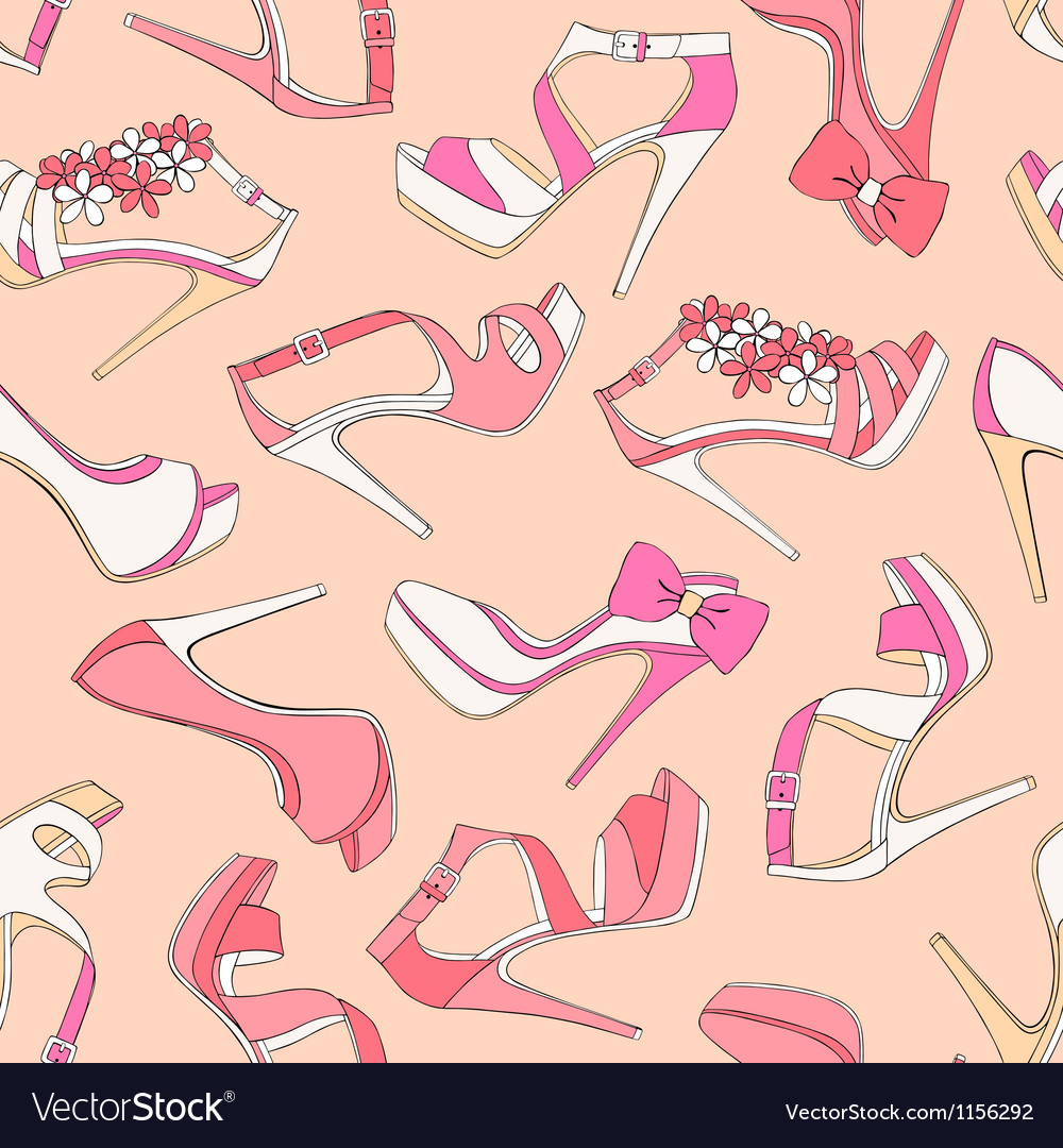 High heels seamless pattern vector