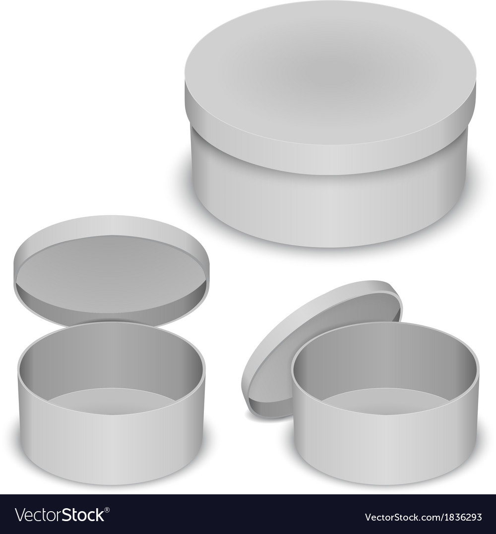 Round box template vector