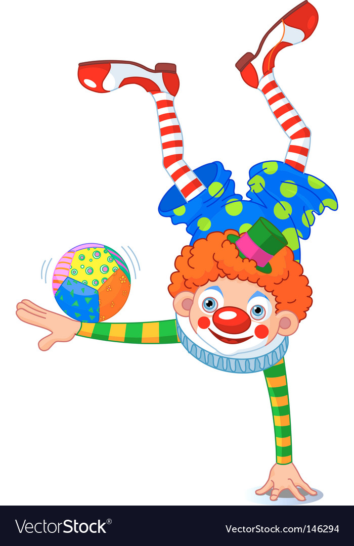 Acrobat clown vector