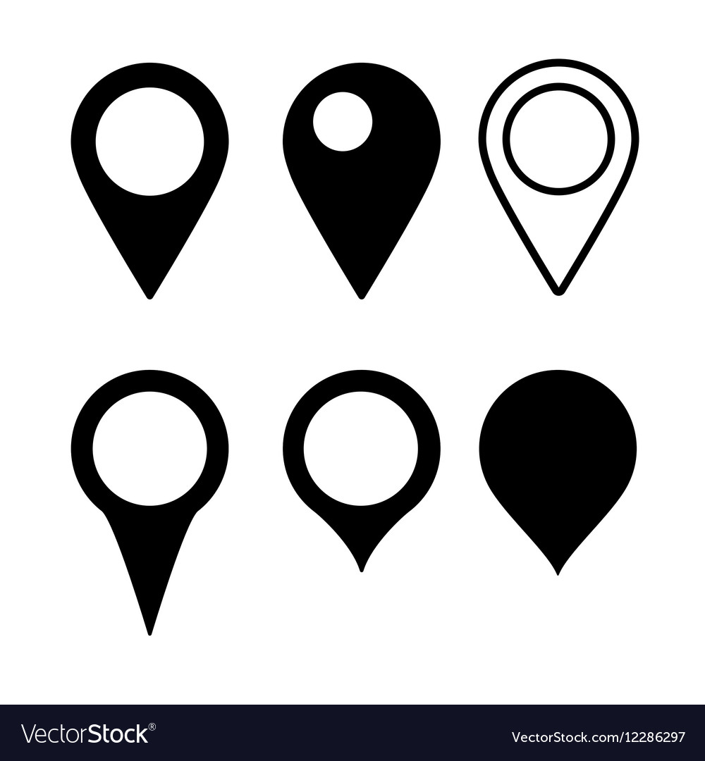 Set map marker vector
