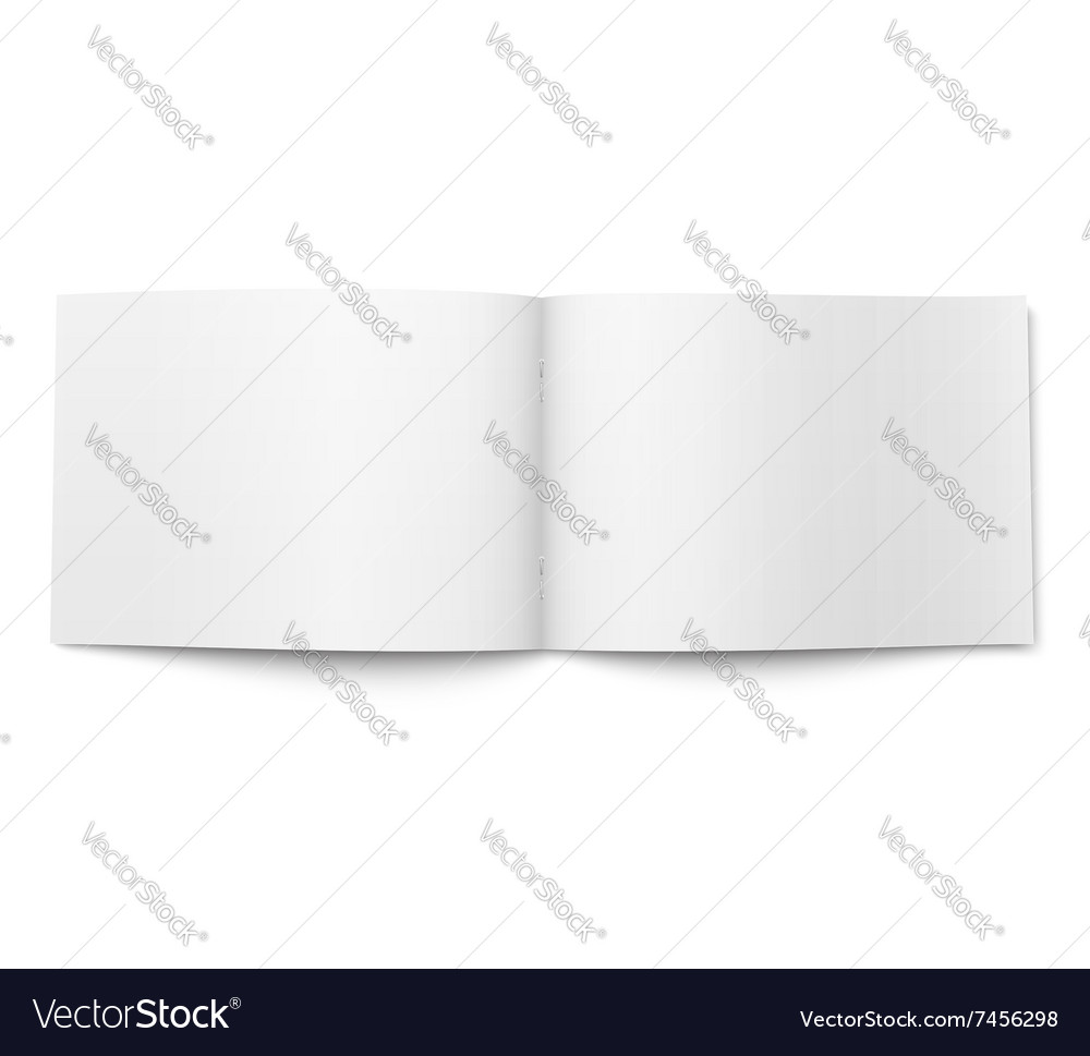 Blank magazine template wide format vector