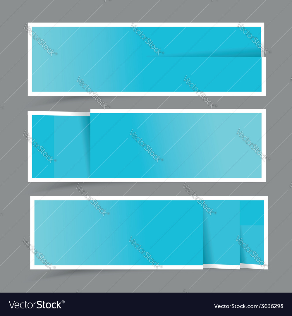 Paper design template for numbered bannerswebsite vector