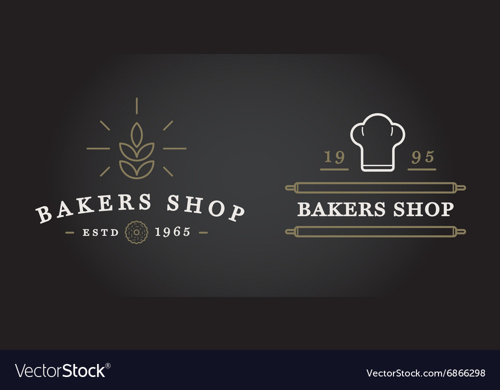 Set of bakery pastry elements and bread icons can vector