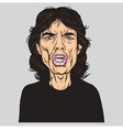 Mick Jagger of the Rolling Stones Portrait vector image
