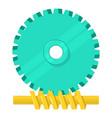 helical gear icon cartoon style vector image