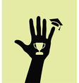 graduated hand vector image